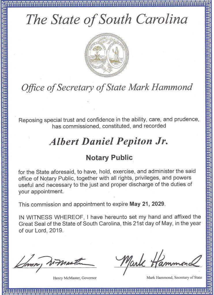 South-Carolina-Notary-Commission